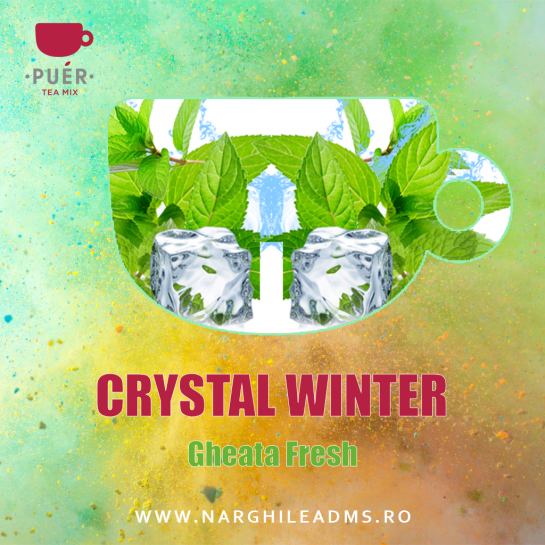 Aroma Narghilea PUER CRYSTAL WINTER - GHEATA FRESH 100g