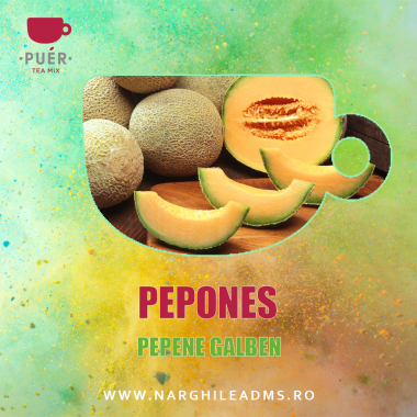Aroma Narghilea PUER PEPONES - PEPENE GALBEN 100g