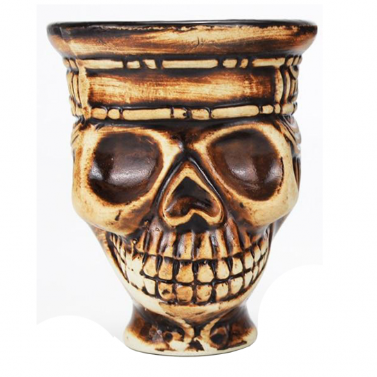 Creuzet COCO BOSS din Ceramica in forma de SKULL (CRANIU)