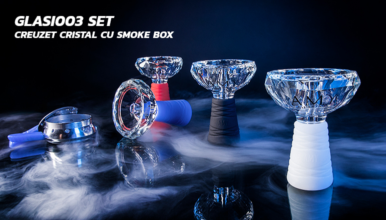 Set GLASI003 creuzet cristal cu smoke box